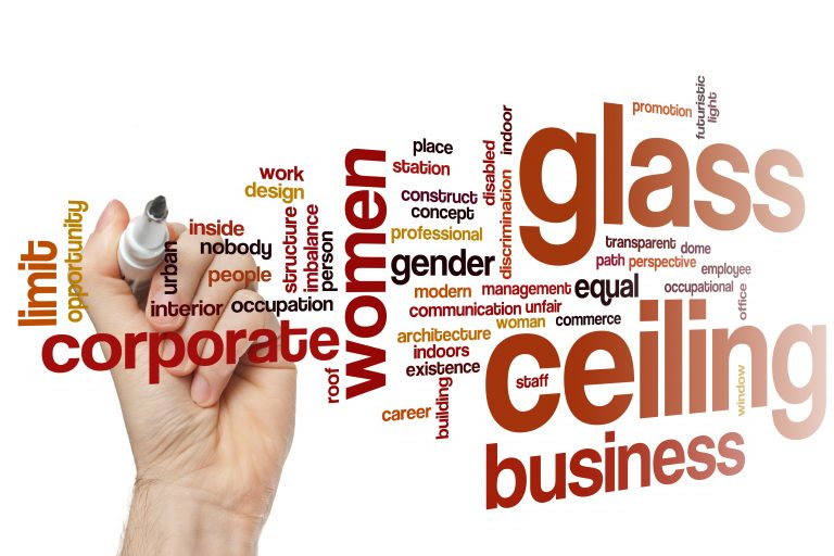 Image of Glass ceiling discrimination defined