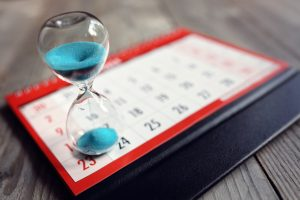 calendar and hour glass