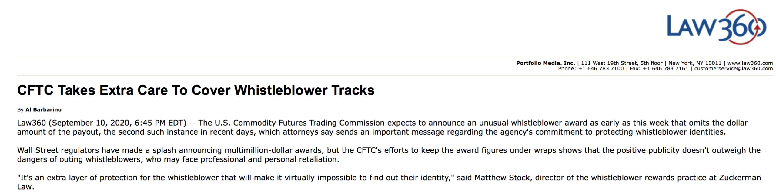 CFTC whistleblower lawyers