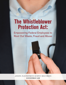 Image of Whistleblower Protection Lawyer Cited in Wall Street Journal Article About Federal Whistleblower Protections