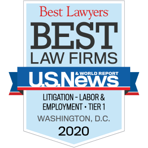 Image of Zuckerman Law named to the U.S. News 2020 list of Tier 1 employment law firms