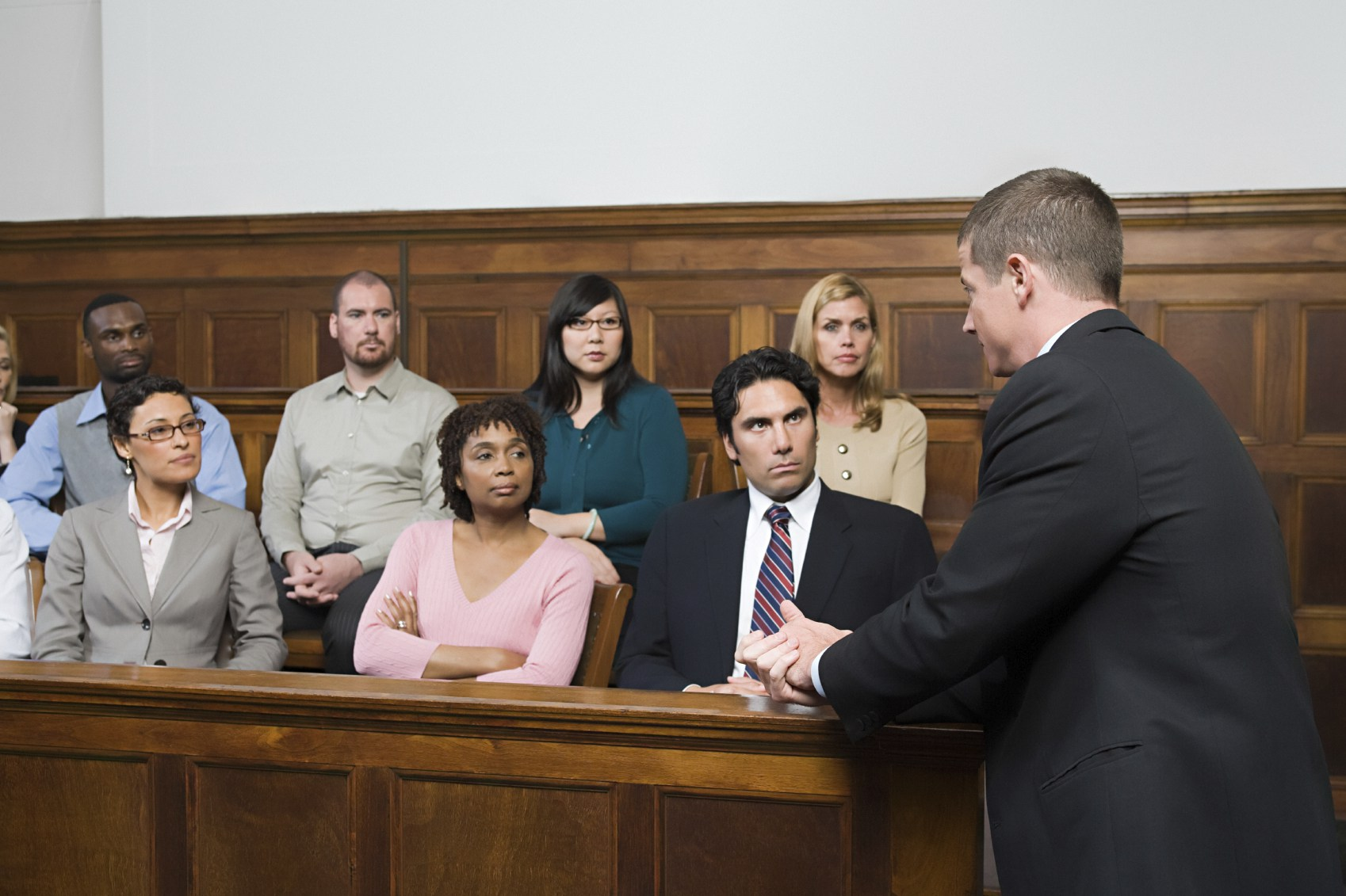 jury in court A jury is a sworn body of people convened to render an impartial verdict (a finding of fact on a question) officially submitted to them by a court, or to set a penalty or judgment.